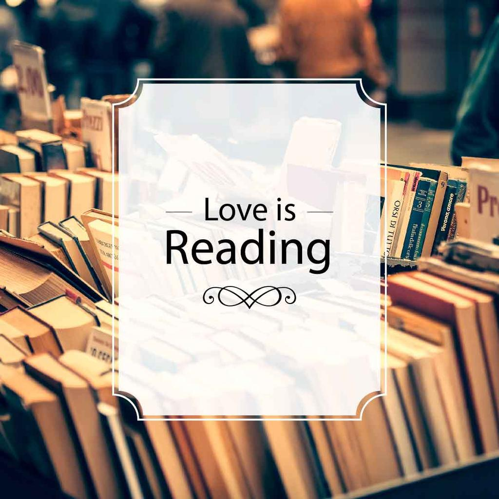 love is reading poster for bookstore — Создать дизайн