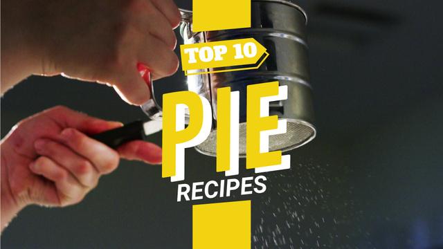 Bakery Recipe Sifting Sugar Powder on Pie Full HD video – шаблон для дизайну