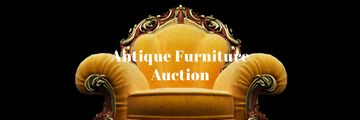 Antique Furniture Auction Luxury Yellow Armchair | Email Header Template
