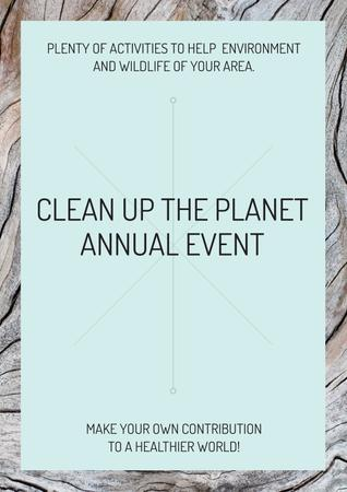 Clean up the Planet Annual event Posterデザインテンプレート