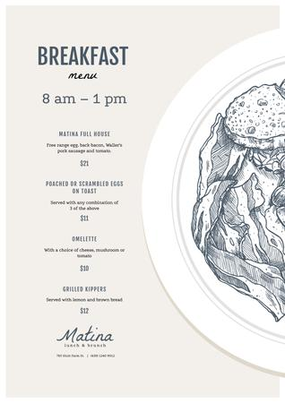 Template di design Lunch delicious meal Menu