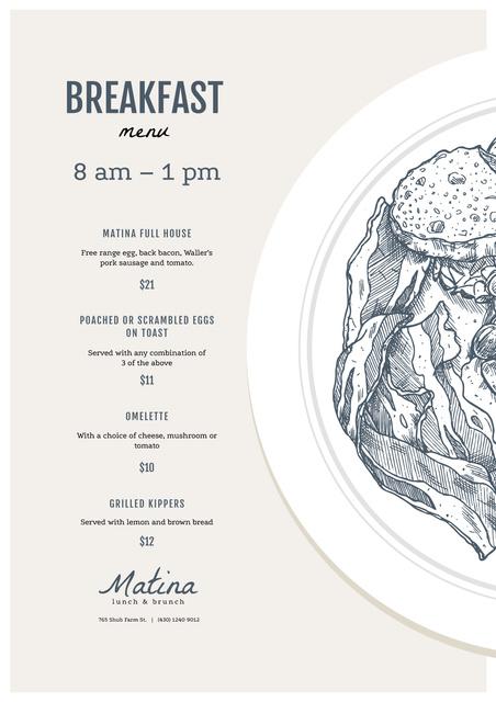Plantilla de diseño de Lunch delicious meal Menu