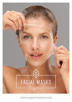 Organic facial masks advertisement