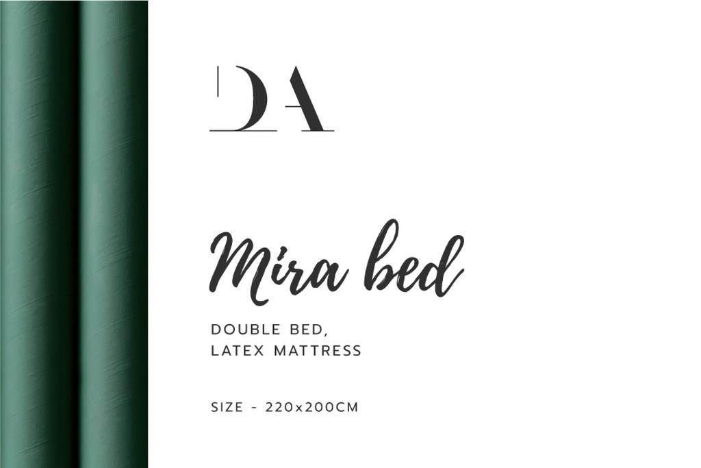 Plantilla de diseño de Bedroom furniture retailer contacts Label