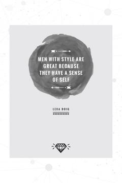Citation about men with style