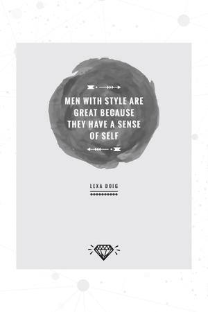 Template di design Citation about men with style Pinterest