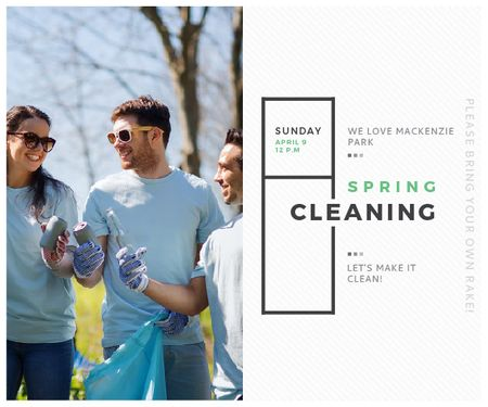 Spring Cleaning in Mackenzie park Medium Rectangle Modelo de Design