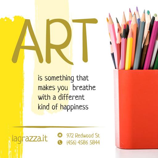 Art Supplies Sale Colorful Pencils InstagramPost