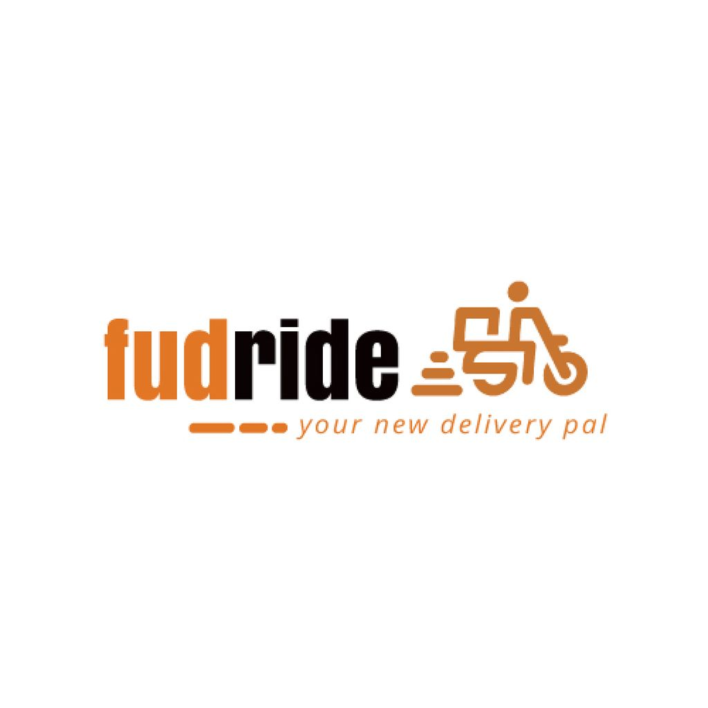 Delivery Services Courier on Scooter — Створити дизайн