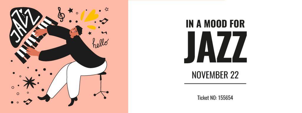 Jazz Event with Musician playing Piano — ein Design erstellen