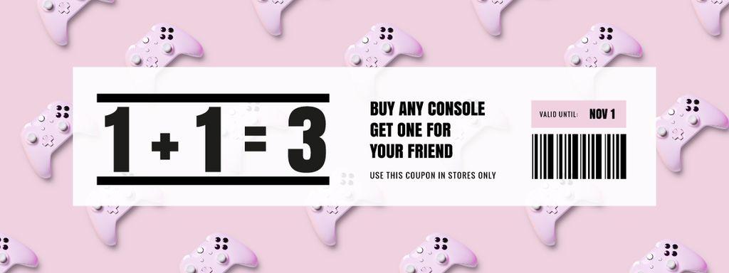Console Discount on Pink — Modelo de projeto