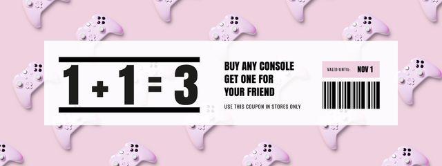 Console Discount on Pink Coupon – шаблон для дизайну