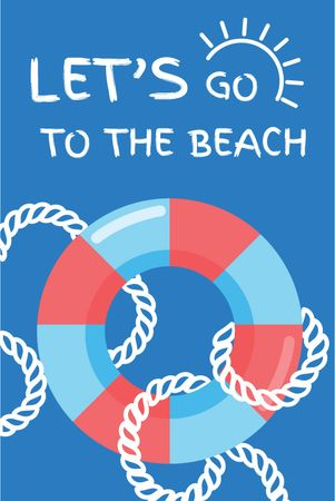 Summer Trip Offer Floating Ring in Blue Tumblr – шаблон для дизайна