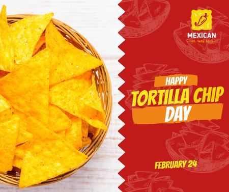 Tortilla chip day celebration Facebook Design Template