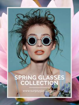 Spring glasses collection advertisement