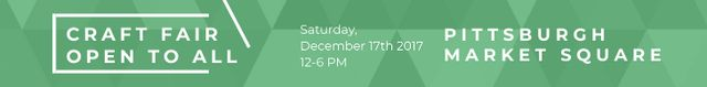 Craft fair in Pittsburgh Leaderboard – шаблон для дизайна