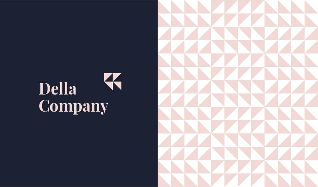 Geometric Pattern Triangles in Pink | Business Card Template — Створити дизайн
