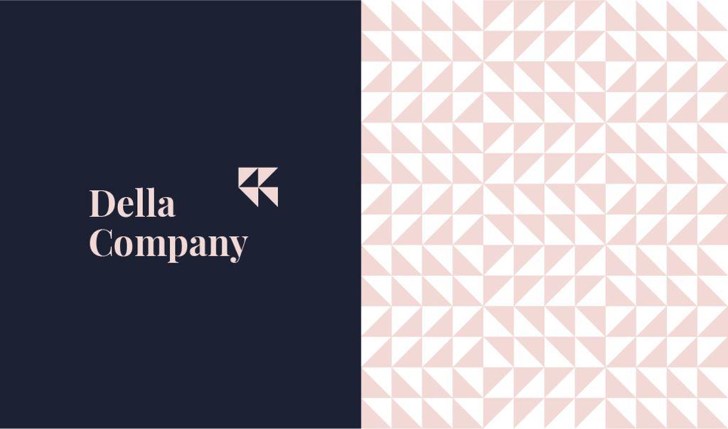 Geometric Pattern Triangles in Pink — Crear un diseño