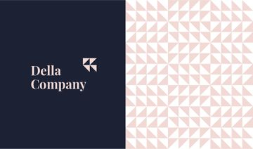 Geometric Pattern Triangles in Pink | Business Card Template