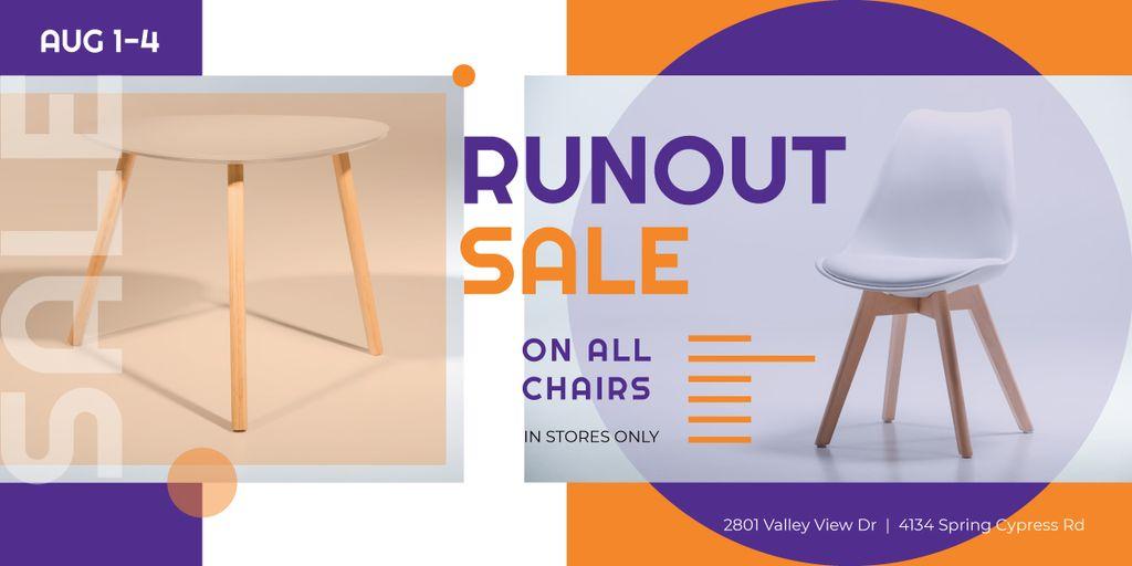 Furniture Offer White Chair and Table — ein Design erstellen