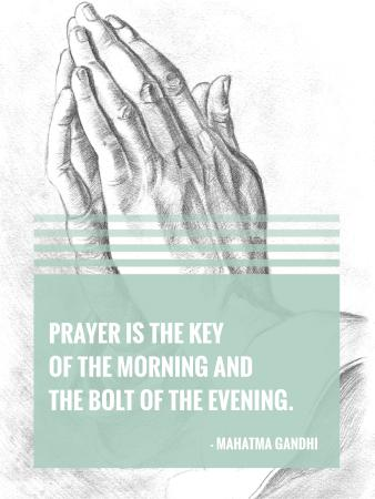 Plantilla de diseño de Religion Invitation with Hands in Prayer Poster US