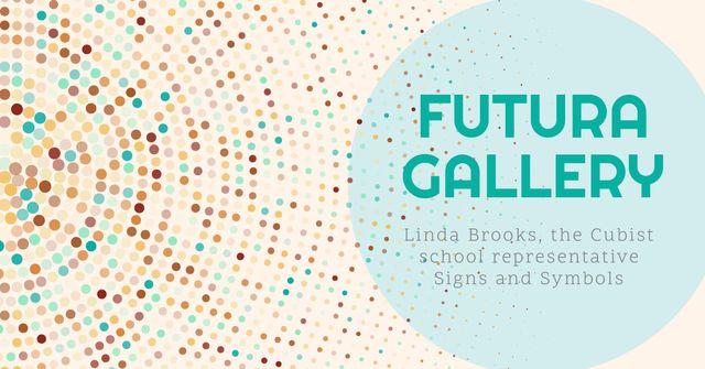 Plantilla de diseño de Art gallery Bright Invitation Facebook AD