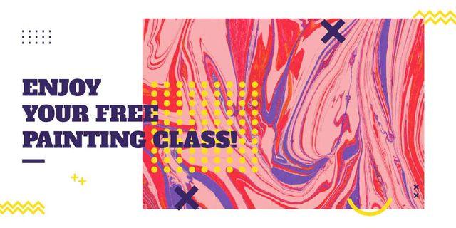 Modèle de visuel Free painting class poster - Image