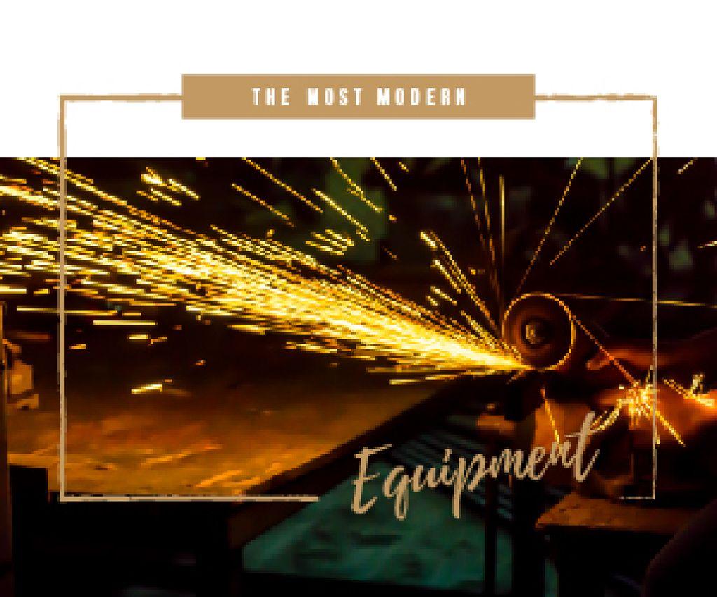 Welding Equipment Ad Man Cutting Metal — Создать дизайн