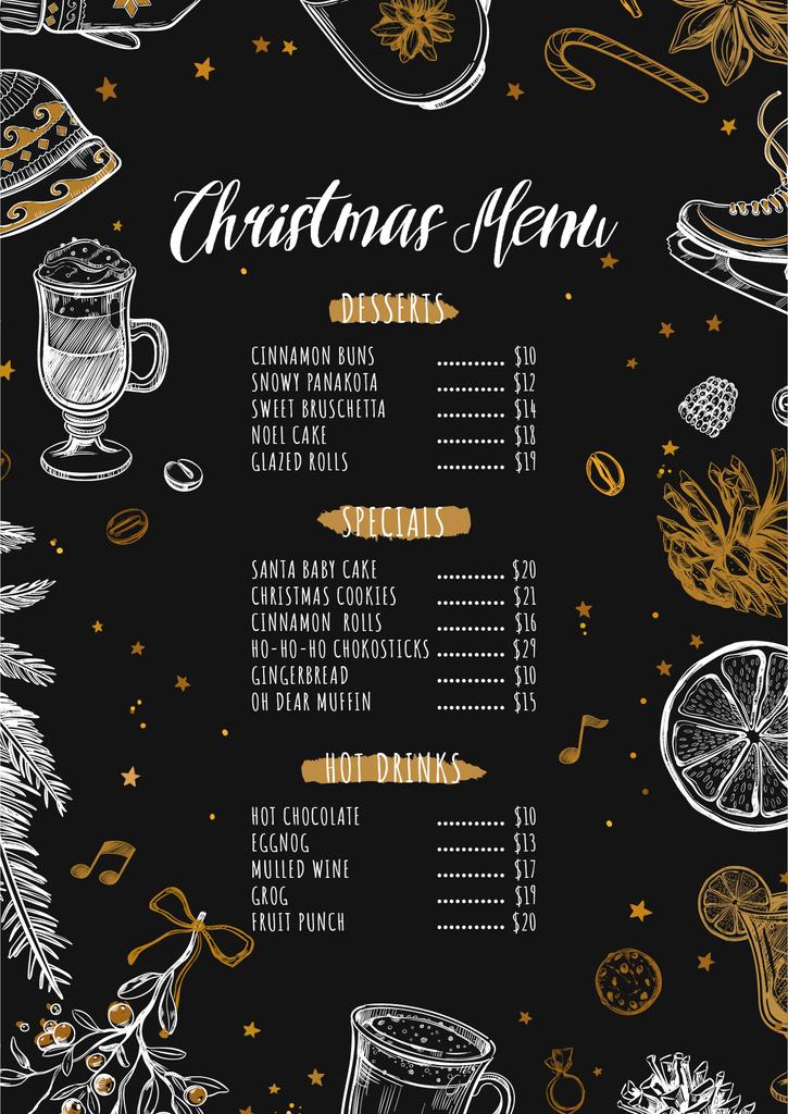 Christmas dishes course — Créer un visuel