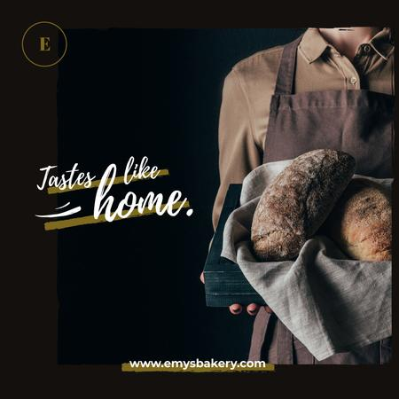 Template di design Baker holding Bread Loaves Instagram AD