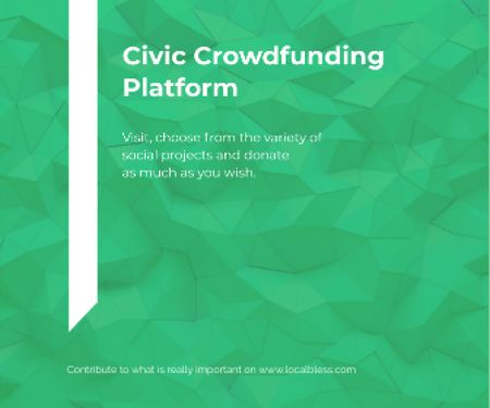 Ontwerpsjabloon van Large Rectangle van Civic Crowdfunding Platform