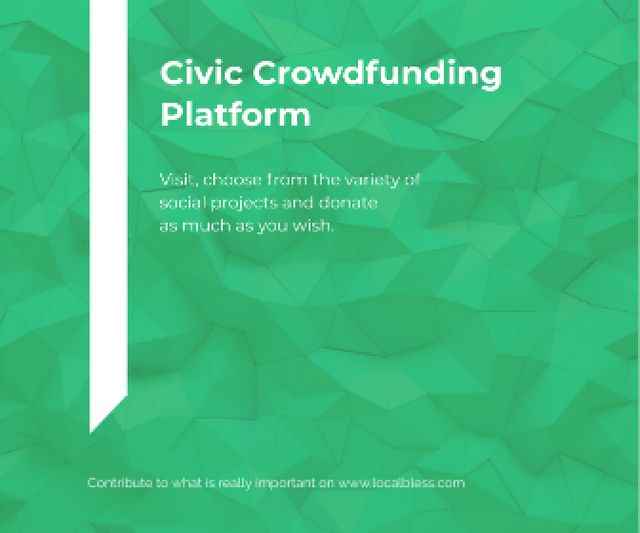 Modèle de visuel Civic Crowdfunding Platform - Large Rectangle