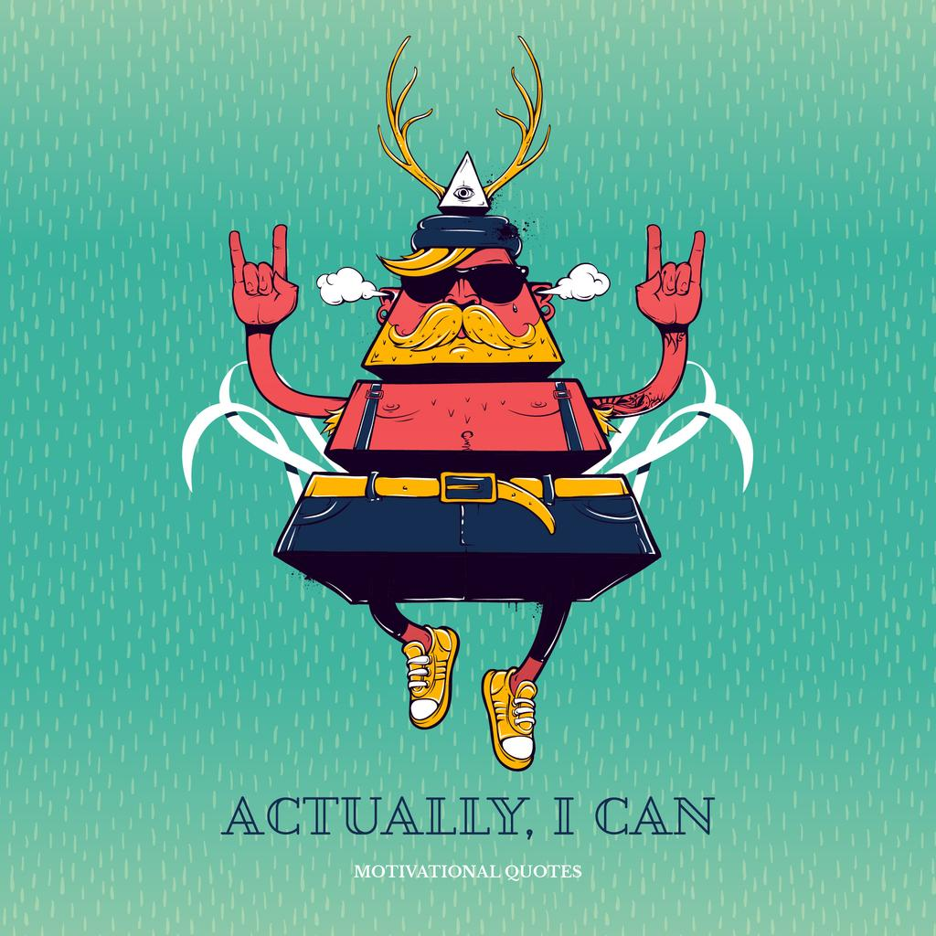 Inspirational Quote with Triangle Hipster Bizarre Character — Crear un diseño