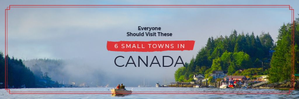 Travel Guide Small Village by the Lake | Email Header Template — Crear un diseño