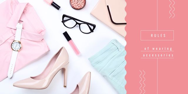 Stylish clothes and accessories Image Design Template
