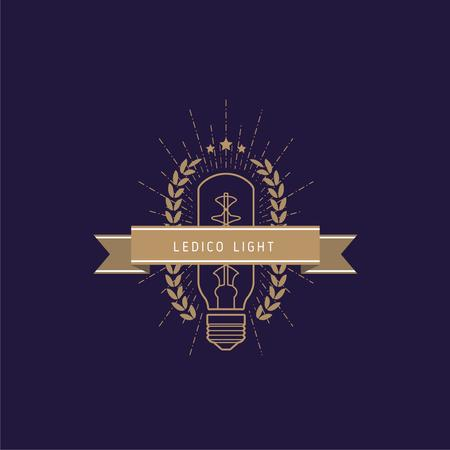 Template di design Light Bulb Icon in Brown Logo