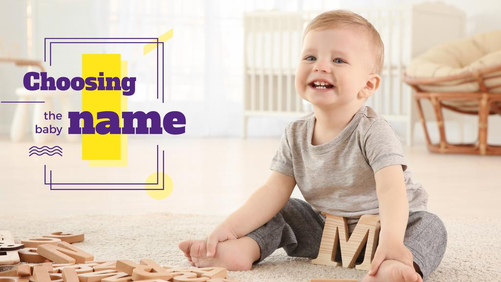 Child playing with letters — Create a Design