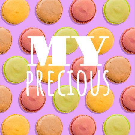 Ontwerpsjabloon van Animated Post van Colorful Spinning Macarons