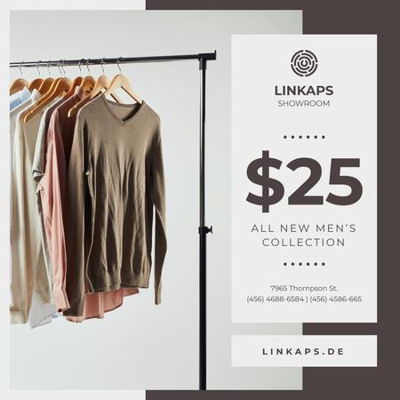 Modèle de visuel Clothes Sale Shirts on Hangers - Instagram