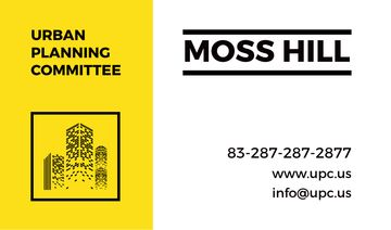 Urban Planning Committee Ad in Yellow | Business Card Template