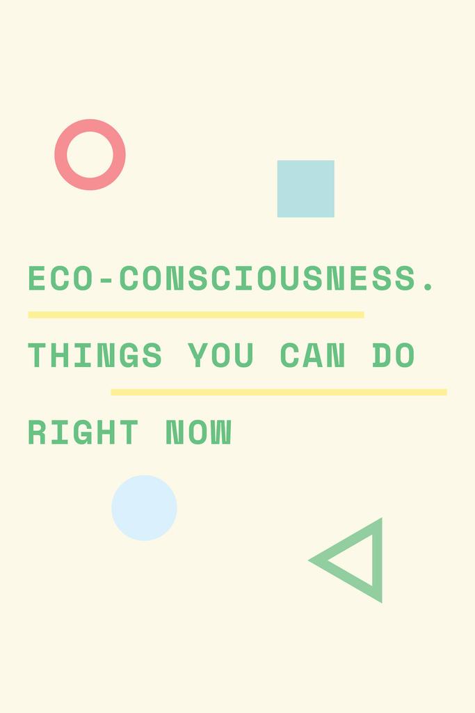 Eco-consciousness concept Pinterest Tasarım Şablonu