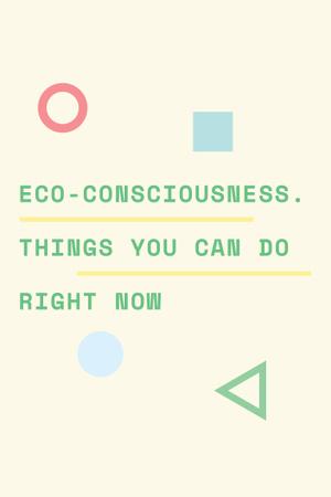 Plantilla de diseño de Eco-consciousness concept Pinterest