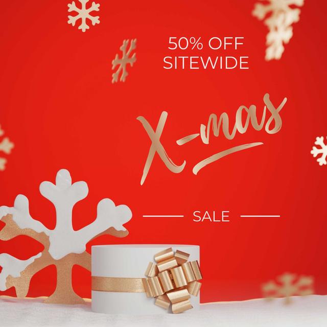Gift box for Christmas sale Instagram AD – шаблон для дизайну