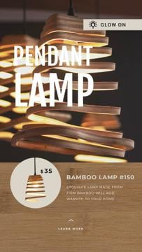 Lighting Ad Lamps in Modern Interior | Vertical Video Template