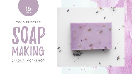 Ontwerpsjabloon van FB event cover van Handmade Soap Bar with Lavender