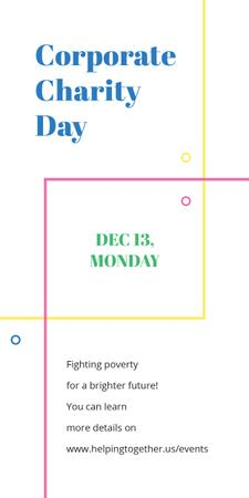 Template di design Corporate Charity Day on simple lines Graphic
