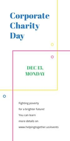 Plantilla de diseño de Corporate Charity Day on simple lines Graphic