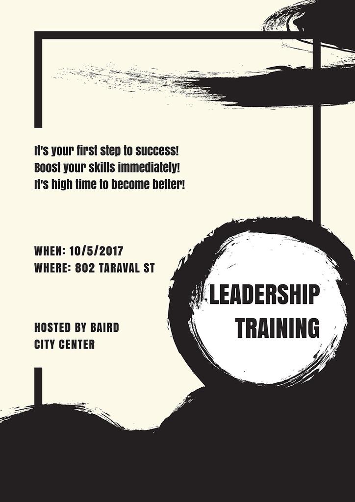 Leadership training in Bussines City Center — Создать дизайн
