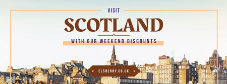 Tour Invitation with Scotland Famous Sights Facebook cover Modelo de Design