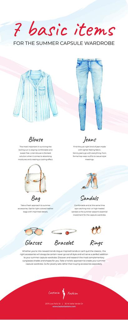 List infographics with Fashion items — Crea un design